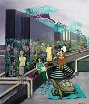 Inszenierung, 2016, Öl auf Leinwand, 140 x 120 cm
