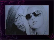 crazy Girls - Zeichnung nach Foto
