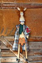 Конь в пальто. Текстильная игрушка, подарок