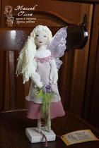 Текстильная кукла фея розовой мечты. Автор Маслик Ольга