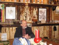 Hans Richter beim Einführungsvortrag in der Kaue