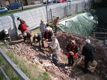 Besichtigung einer wissenschaftl. Grabung im Stadtgebiet von Chemnitz