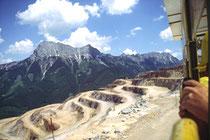 Eisenerz-Tagebau der Voest-Alpine AG