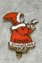 Berger Schokoladen Mädchen emailierter Anstecker