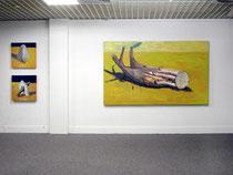 Berg / Haus/ Utopie  Öl auf Nessel, 2004