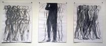 ohne Titel, Zeichnungen, 2004/2009, Mischtechnik auf Papier