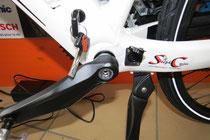 vérouillage de la batterie à clé et possibilité de chager la batterie directement sur le vélo