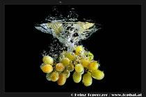 Unterwasserfotos von Früchten und Tropfen, Unterwasserfotos von Heinz Toperczer