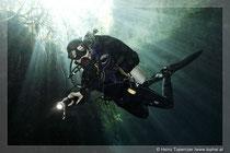 Unterwasserfotos Meer, Unterwasserfotos Höhle, Unterwasserhöhlenfotos von Heinz Toperczer, cave