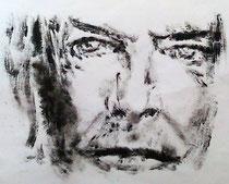 """Bowie (monotype 2015) pour le projet """"Bowie's next face"""" (bibliothèque Mohamed Arkoun - Paris)"""