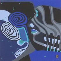 Blaues Gesicht II - April 2013 - 40x40 cm