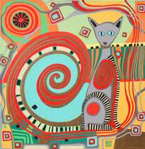 Der Wächter - Januar 2006 - 40x40 cm - verkauft