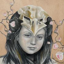 """""""Le cube face A"""" Huile sur bois/Oil on wood 20x20cm - 2014"""
