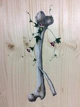 « Quand la nature reprend ses droits » acrylique sur bois 38,7x28,6cm