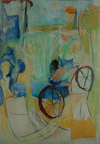 bicycle  -  gouache and pastel on paper  -  60x90 cm  -  1990