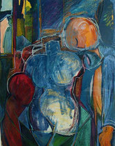 the sculpter  -  gouache and pastel on paper  -  70x90 cm  -  1995