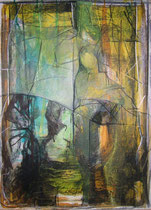 lies like a spider web  -  mixed media on canvas  -  40x60 cm  -  2004