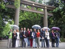 En el Santuario Meiji Jingu de Tokyo