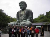 Junto al Daibutsu de Kamakura