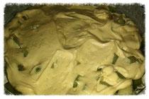 Gestürzter Rhabarberkuchen - vor dem Backen