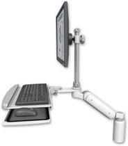 ICWUSA UL180シリーズ デスクマウント ディスプレイキーボード用モニターアーム