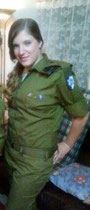 "Leah Bijleveld in uniform I.D.F. ""Atak""."