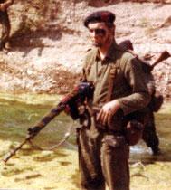 Egbert Nauta in gevechtsuniform Korps Mariniers.