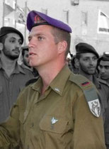 "Ishay Bijleveld in uniform I.D.F. ""Givati""."