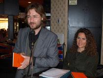 Con el poeta Rafael Saravia