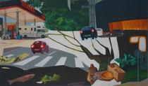 2015 happy hour, 100 x 170 cm, Öl auf Leinwand