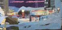 2014 Lost, 70 x 140 cm, Acryl/Öl auf Leinwand