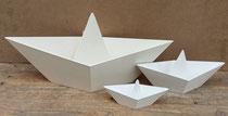 Barquitos de papel en madera. 4 tamaños disponibles.