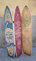 Biombo madera tablas de surf 3 hojas. Medida de hoja 180x38