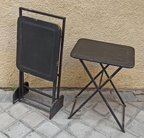 Mesas auxiliares plegables metal con soporte