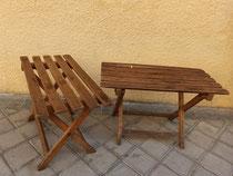 mesas auxiliares plegables