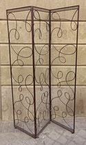 Biombo metal 3 hojas.edida de hoja 176x43