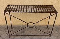 Mesas auxiliar metal. 69x100x35 fondo