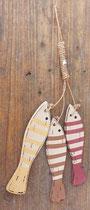 Ristra peces madera