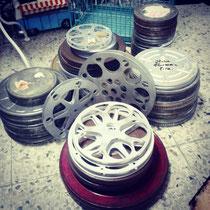 Bovinas y cajas de películas de cine