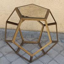 Mesa metal y espejo