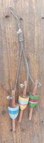 Ristra boyas de madera pequeña. Ref 232155. 30 centímetros alto