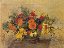 Composizione di fiori gialli e rossi