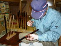 オリジナル横笛漆塗り