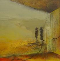 """""""alte Liebe rostet nicht""""  80 x 80 cm, 2008"""