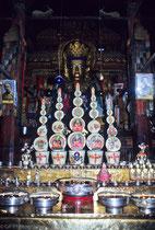 Butter sculpture in Palcho Monastery, Gyantse, Tibet 1993