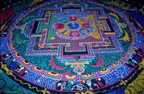 Sand Mandala in Palcho Monastery, Gyantse, Tibet 1993
