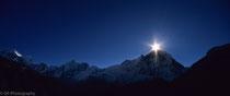Annapurna Base Camp - The sun rises behind Machapuchare - Nepal 1988