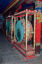 Drum in Ganden Monastery, Tibet 1993