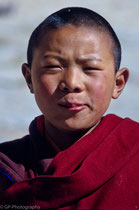 Young monk in Tsurphu, Tibet 1993
