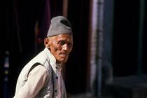 Old man, Durbar square, Kathmandu, Nepal 1989